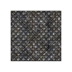 Scales2 Black Marble & Gray Stone (r) Acrylic Tangram Puzzle (4  X 4 )