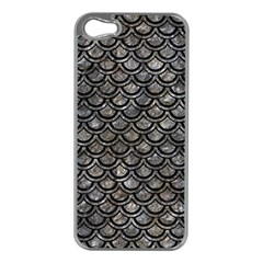 Scales2 Black Marble & Gray Stone (r) Apple Iphone 5 Case (silver)