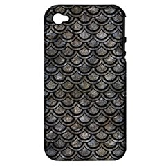 Scales2 Black Marble & Gray Stone (r) Apple Iphone 4/4s Hardshell Case (pc+silicone)