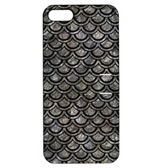 Scales2 Black Marble & Gray Stone (r) Apple Iphone 5 Hardshell Case With Stand