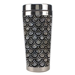 Scales2 Black Marble & Gray Stone (r) Stainless Steel Travel Tumblers
