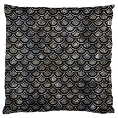 Scales2 Black Marble & Gray Stone (r) Standard Flano Cushion Case (one Side)