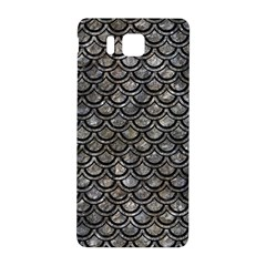 Scales2 Black Marble & Gray Stone (r) Samsung Galaxy Alpha Hardshell Back Case