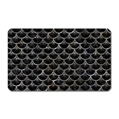 Scales3 Black Marble & Gray Stone Magnet (rectangular)