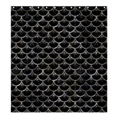 Scales3 Black Marble & Gray Stone Shower Curtain 66  X 72  (large)