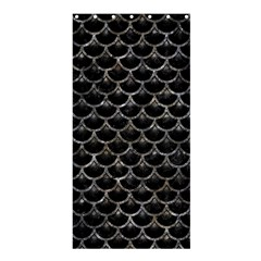 Scales3 Black Marble & Gray Stone Shower Curtain 36  X 72  (stall)