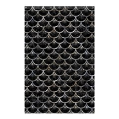 Scales3 Black Marble & Gray Stone Shower Curtain 48  X 72  (small)
