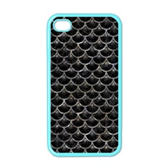 Scales3 Black Marble & Gray Stone Apple Iphone 4 Case (color)