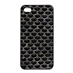 Scales3 Black Marble & Gray Stone Apple Iphone 4/4s Seamless Case (black)