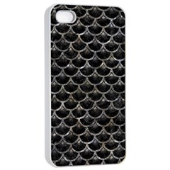 Scales3 Black Marble & Gray Stone Apple Iphone 4/4s Seamless Case (white)