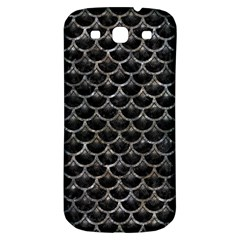 Scales3 Black Marble & Gray Stone Samsung Galaxy S3 S Iii Classic Hardshell Back Case