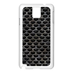 Scales3 Black Marble & Gray Stone Samsung Galaxy Note 3 N9005 Case (white)