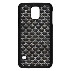 Scales3 Black Marble & Gray Stone Samsung Galaxy S5 Case (black)
