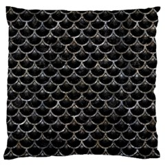 Scales3 Black Marble & Gray Stone Large Flano Cushion Case (two Sides)