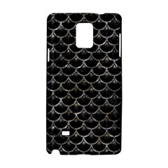 Scales3 Black Marble & Gray Stone Samsung Galaxy Note 4 Hardshell Case