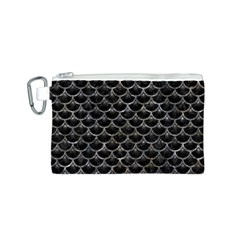 Scales3 Black Marble & Gray Stone Canvas Cosmetic Bag (s)