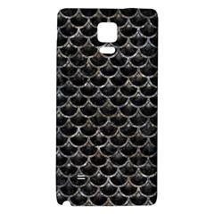 Scales3 Black Marble & Gray Stone Galaxy Note 4 Back Case