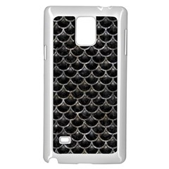 Scales3 Black Marble & Gray Stone Samsung Galaxy Note 4 Case (white)