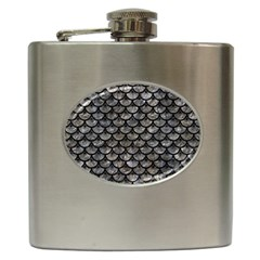 Scales3 Black Marble & Gray Stone (r) Hip Flask (6 Oz)
