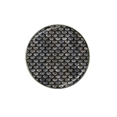 Scales3 Black Marble & Gray Stone (r) Hat Clip Ball Marker (4 Pack)