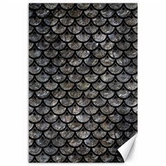 Scales3 Black Marble & Gray Stone (r) Canvas 12  X 18