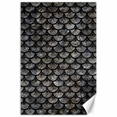 Scales3 Black Marble & Gray Stone (r) Canvas 24  X 36