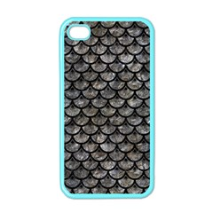 Scales3 Black Marble & Gray Stone (r) Apple Iphone 4 Case (color)