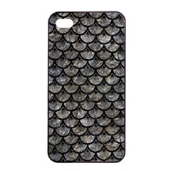 Scales3 Black Marble & Gray Stone (r) Apple Iphone 4/4s Seamless Case (black)