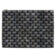 Scales3 Black Marble & Gray Stone (r) Cosmetic Bag (xxl)