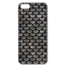 Scales3 Black Marble & Gray Stone (r) Apple Seamless Iphone 5 Case (clear)