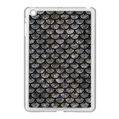 Scales3 Black Marble & Gray Stone (r) Apple Ipad Mini Case (white)