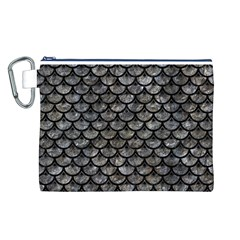 Scales3 Black Marble & Gray Stone (r) Canvas Cosmetic Bag (l)