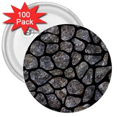 Skin1 Black Marble & Gray Stone 3  Buttons (100 Pack)