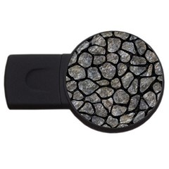 Skin1 Black Marble & Gray Stone Usb Flash Drive Round (2 Gb)