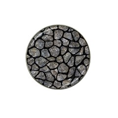 Skin1 Black Marble & Gray Stone Hat Clip Ball Marker (10 Pack)