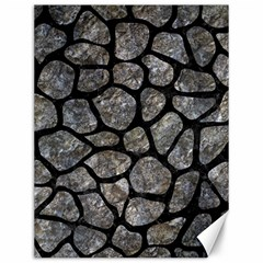 Skin1 Black Marble & Gray Stone Canvas 12  X 16