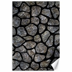 Skin1 Black Marble & Gray Stone Canvas 12  X 18