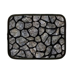Skin1 Black Marble & Gray Stone Netbook Case (small)