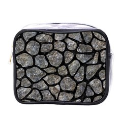 Skin1 Black Marble & Gray Stone Mini Toiletries Bags