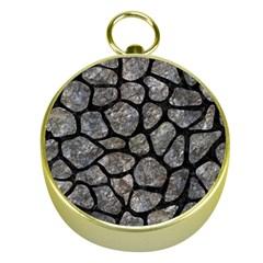 Skin1 Black Marble & Gray Stone Gold Compasses