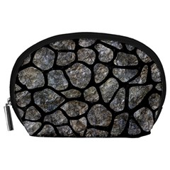 Skin1 Black Marble & Gray Stone Accessory Pouches (large)