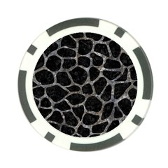Skin1 Black Marble & Gray Stone (r) Poker Chip Card Guard