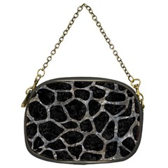 Skin1 Black Marble & Gray Stone (r) Chain Purses (one Side)