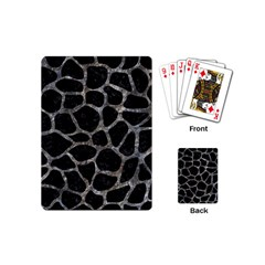 Skin1 Black Marble & Gray Stone (r) Playing Cards (mini)
