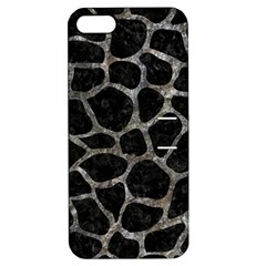 Skin1 Black Marble & Gray Stone (r) Apple Iphone 5 Hardshell Case With Stand