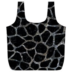Skin1 Black Marble & Gray Stone (r) Full Print Recycle Bags (l)
