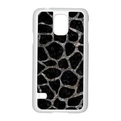 Skin1 Black Marble & Gray Stone (r) Samsung Galaxy S5 Case (white)