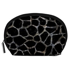 Skin1 Black Marble & Gray Stone (r) Accessory Pouches (large)