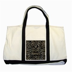 Skin2 Black Marble & Gray Stone (r) Two Tone Tote Bag