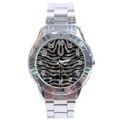 Skin2 Black Marble & Gray Stone (r) Stainless Steel Analogue Watch